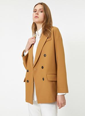 Koton V Yaka Düğme Detaylı Ceket
